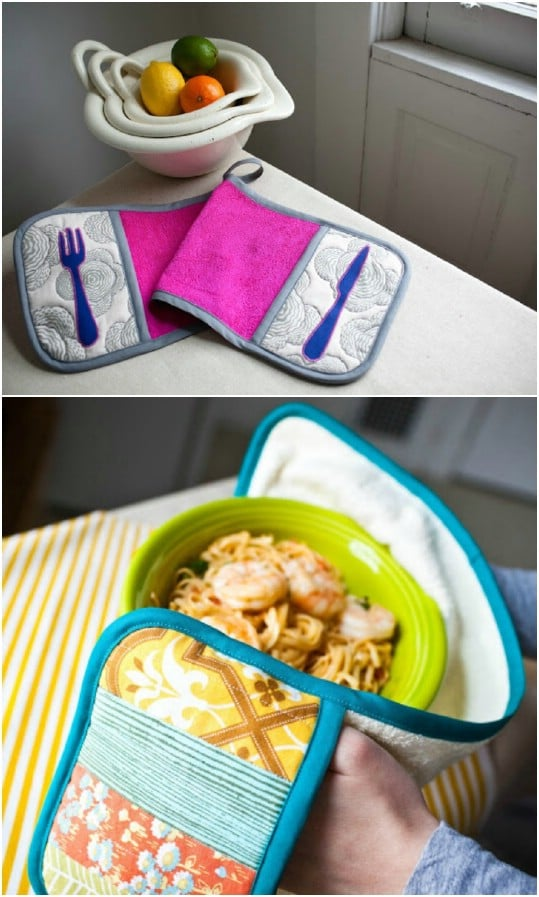 DIY Double Pot Holder With Handles