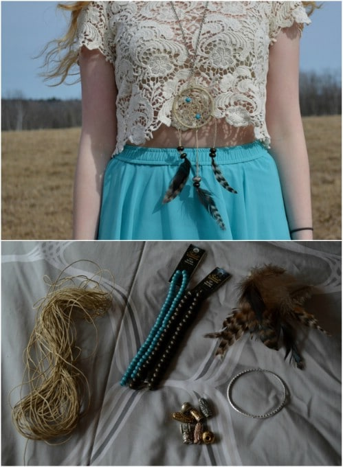 DIY Dream Catcher Necklace