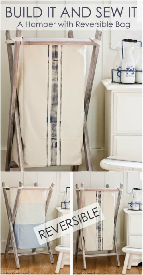 13 Diy Laundry Baskets And Hampers That Make Organizing Laundry Quick And Easy Diy Crafts