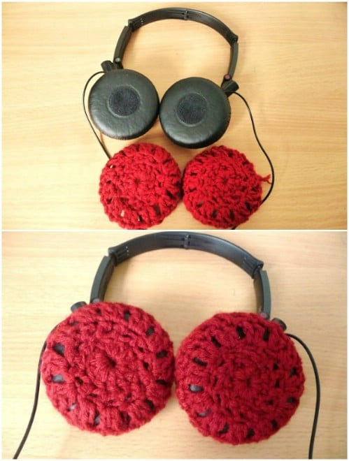 Easy DIY Crocheted Headphone Covers