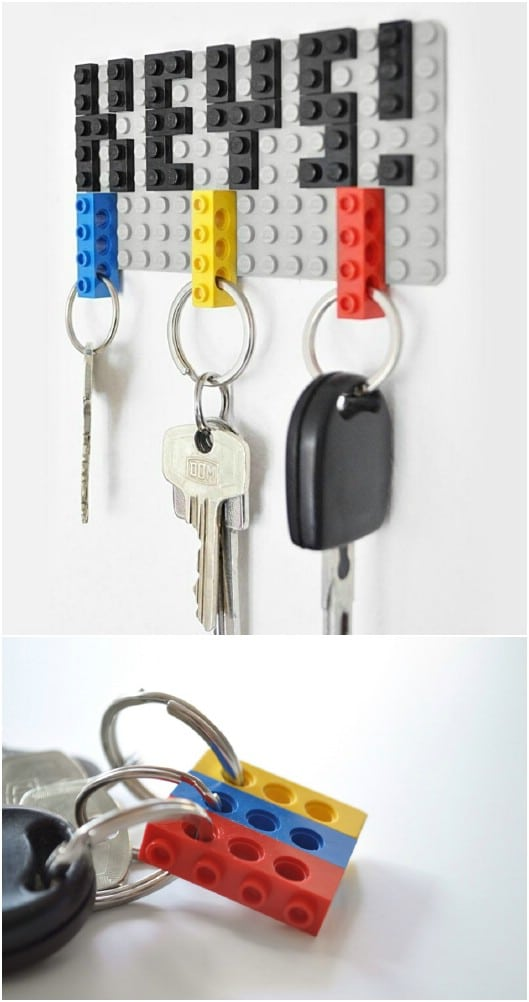 DIY Lego Hanging Key Holder