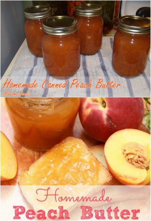 Home Canned Peach Butter
