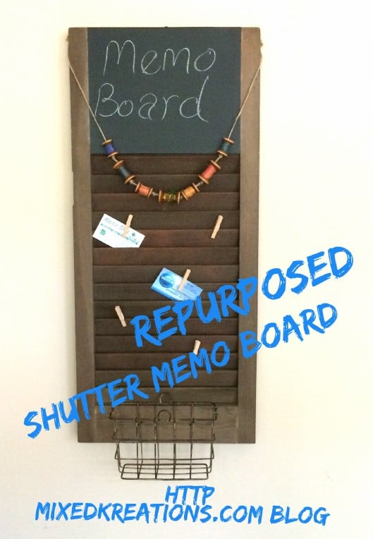 Repurposed Shutter Message Board