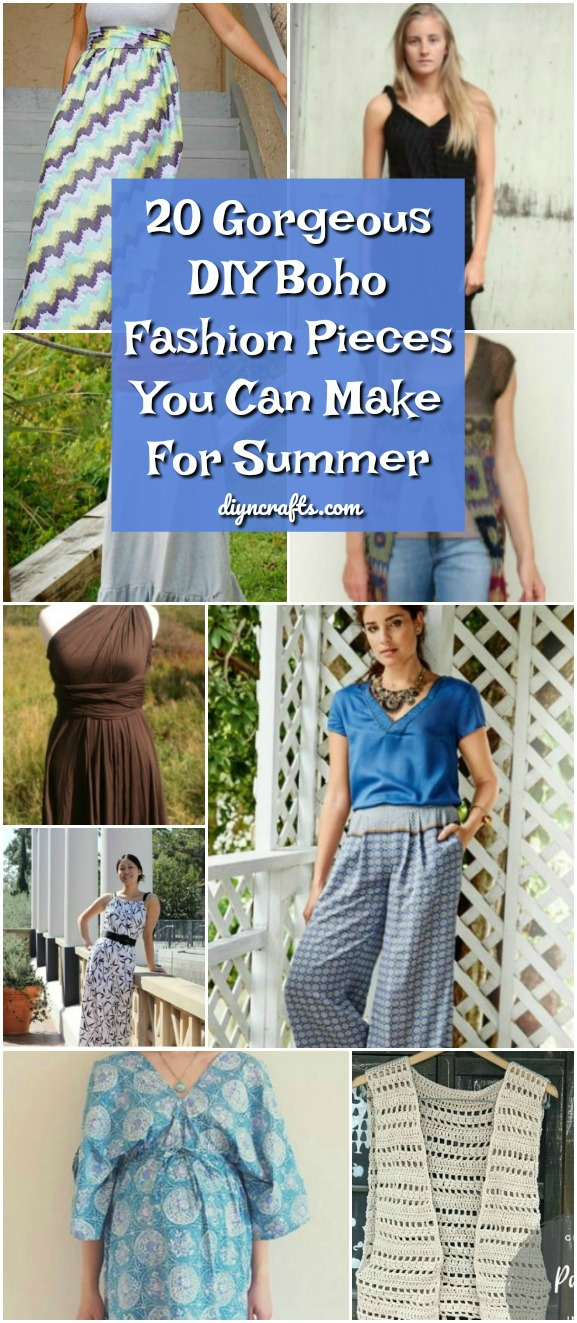 20 Gorgeous DIY Boho Fashion Pieces You Can Make For Summer