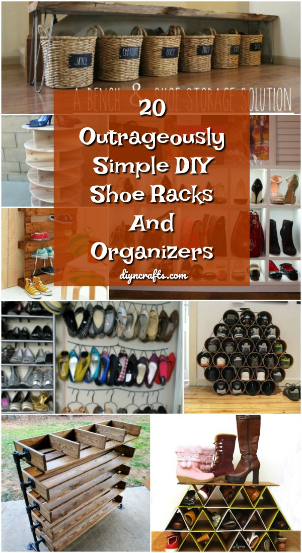 20 Outrageously Simple Diy Shoe Racks And Organizers You Ll Want To Make Today