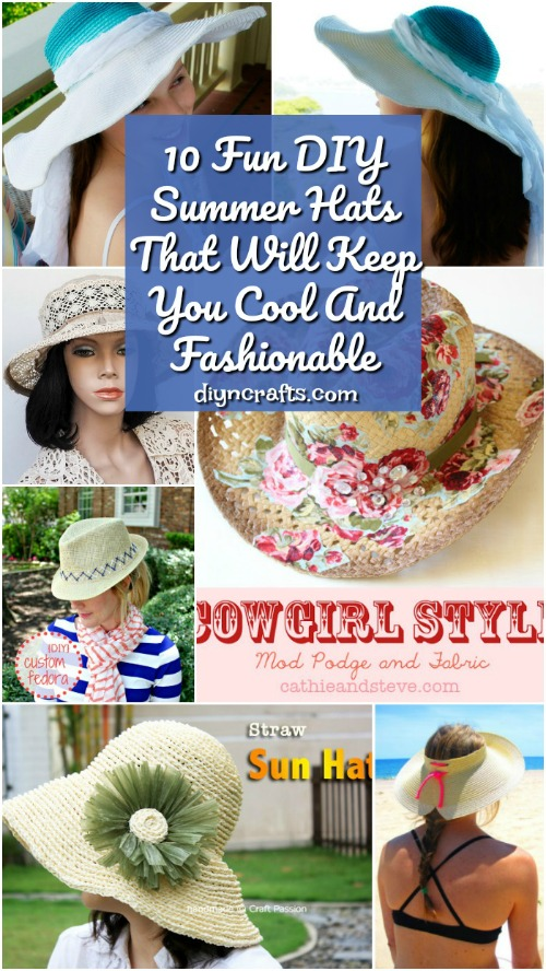 10 Fun DIY Summer Hats That Will Keep You Cool And Fashionable