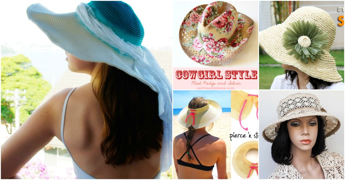 6d9f6e6252c 10 Fun DIY Summer Hats That Will Keep You Cool And Fashionable - DIY    Crafts