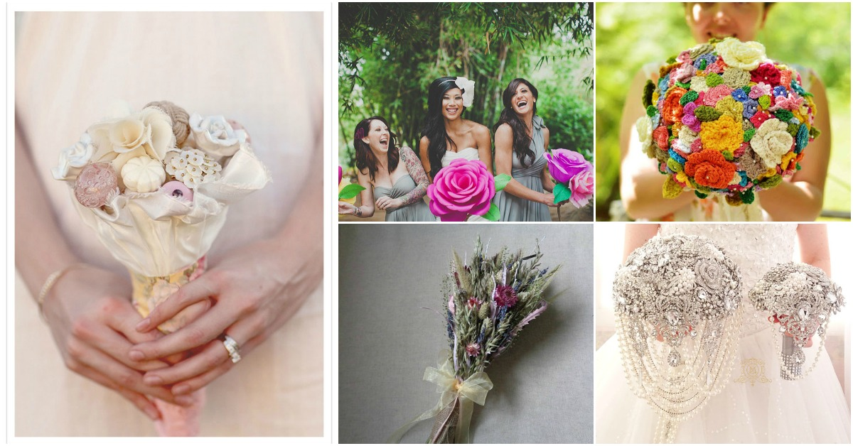 12 Diy Wedding Bouquets That Are As Unique As The Bride That Carries Them Diy Crafts