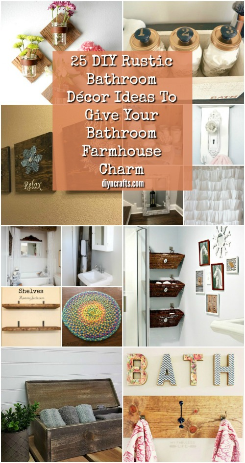25 Diy Rustic Bathroom Décor Ideas To Give Your Farmhouse Charm