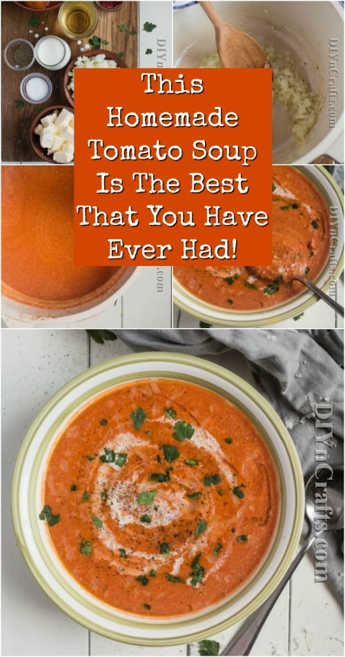 This Homemade Tomato Soup Is The Best That You Have Ever Had!
