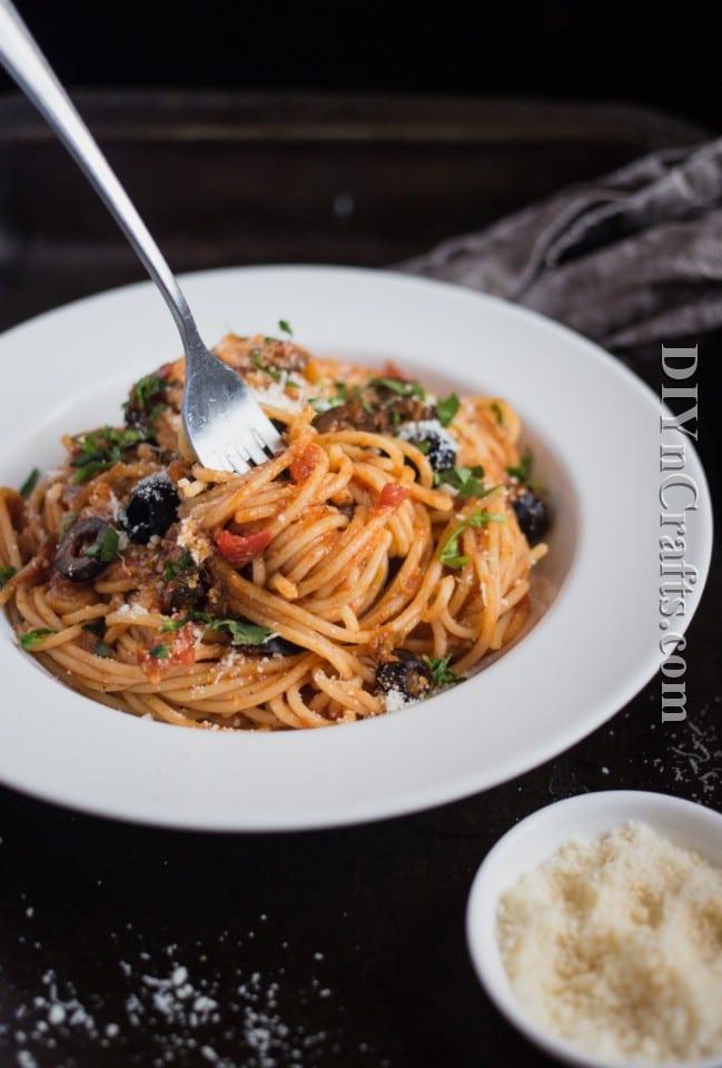 Spaghetti Puttanesca Is A Delicious Twist On A Traditional Favorite