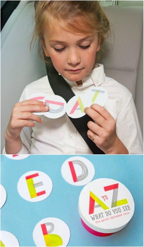Fun DIY Alphabet Travel Game