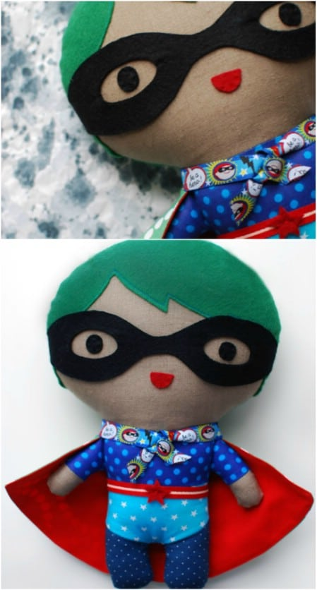 DIY Stuffed Superhero Dolls