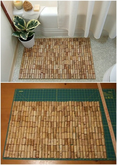 Repurposed Wine Cork Bath Mat