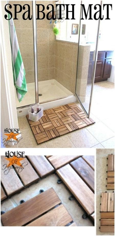 DIY Wooden Spa Bath Mat