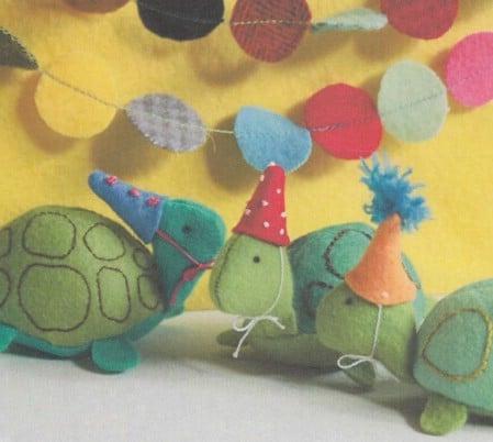 DIY Stuffed Felt Turtle Family