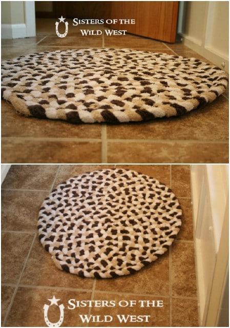 Recycled Bath Towel Bath Mat
