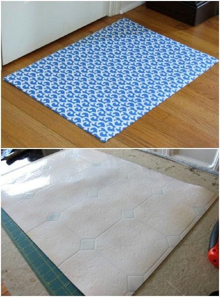 Easy DIY Fabric Bath Mat