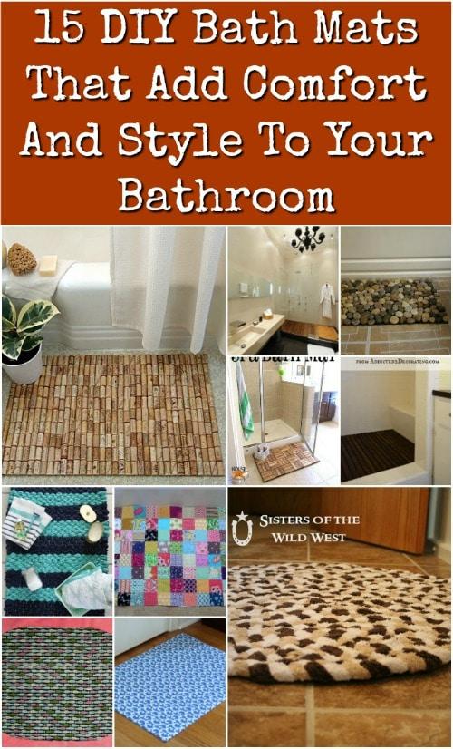 15 Diy Bath Mats That Add Comfort And