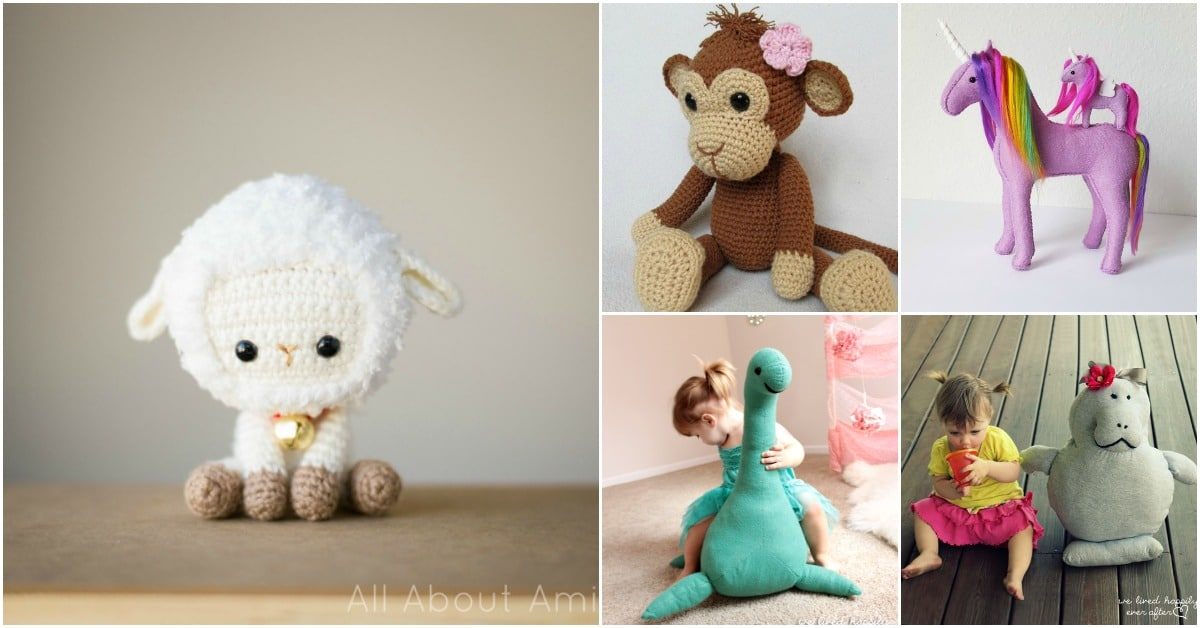 20 Adorable Diy Stuffed Toys Your Kids Will Love Diy Crafts