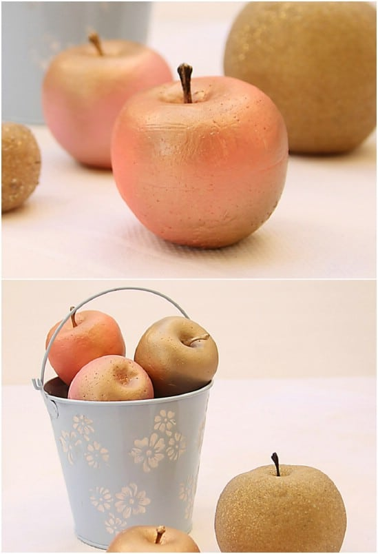 DIY Gilded Apples