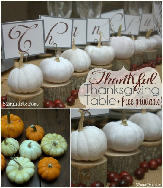 Mini White Pumpkin Centerpiece