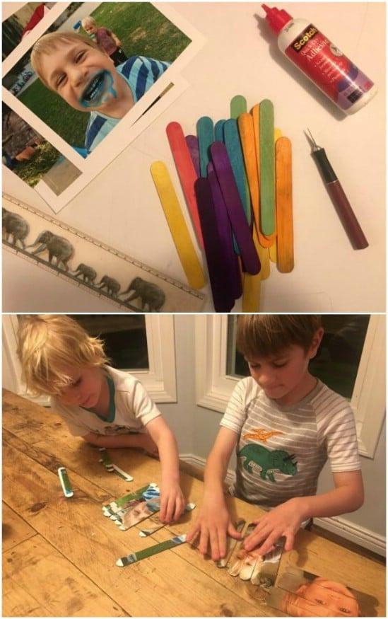 Simple DIY Craft Stick Puzzles