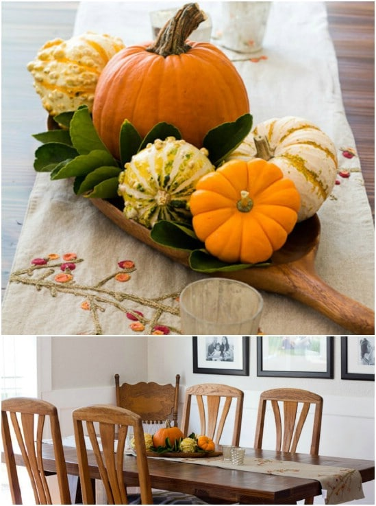 Quick And Easy Pumpkin And Gourd Centerpiece