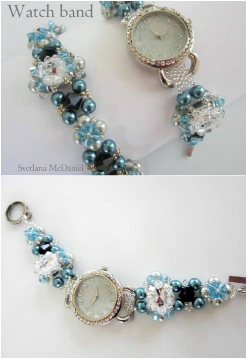 Fashionable DIY Beaded Watch