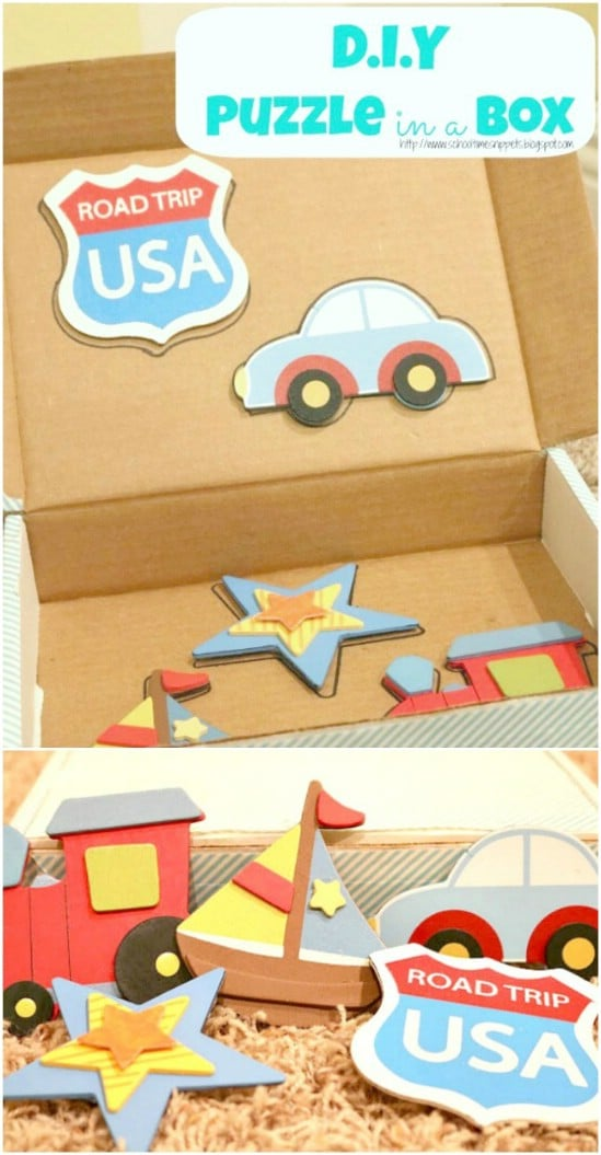 DIY Wooden Puzzle In A Box