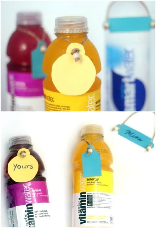 DIY Beaded Water Bottle Hang Tags
