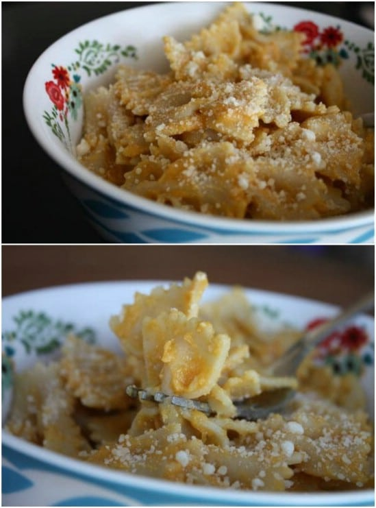Bowtie Pasta With Pumpkin And Parmesan