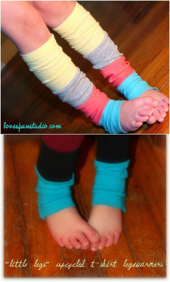 Repurposed T-Shirt Leg Warmers