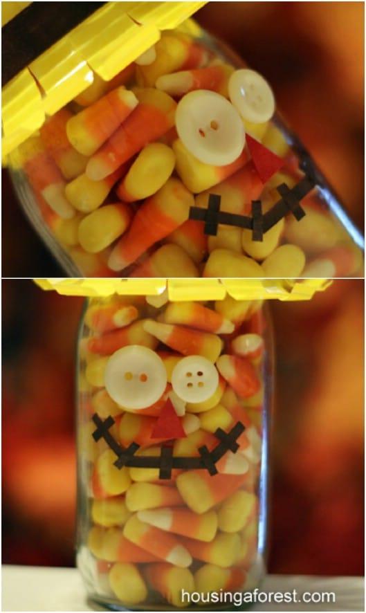 DIY Candy Filled Scarecrow Jar