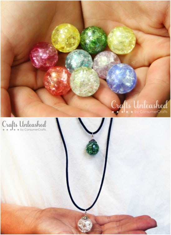 DIY Cracked Marble Jewelry