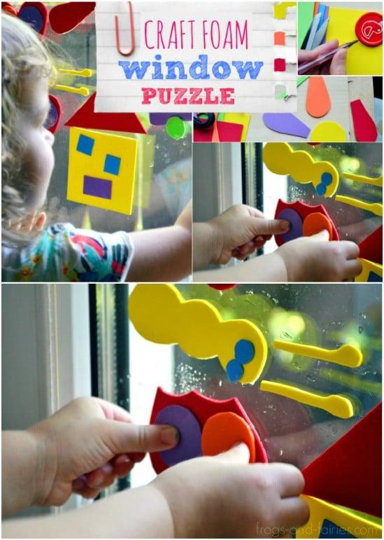 DIY Craft Foam Window Puzzle