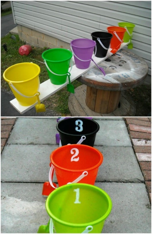 Fun DIY Halloween Bucket Toss Game