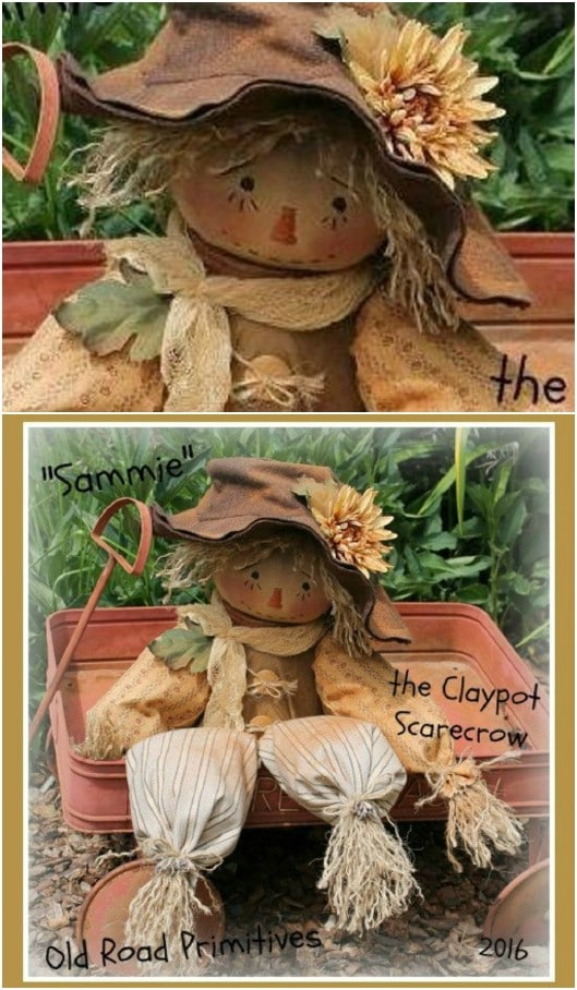 Handsewn Primitive Scarecrow Doll
