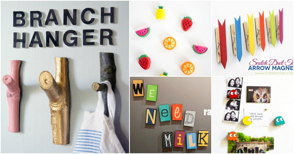 20 Easy Diy Refrigerator Magnets To Decorate Your Kitchen With Fun Diy Crafts