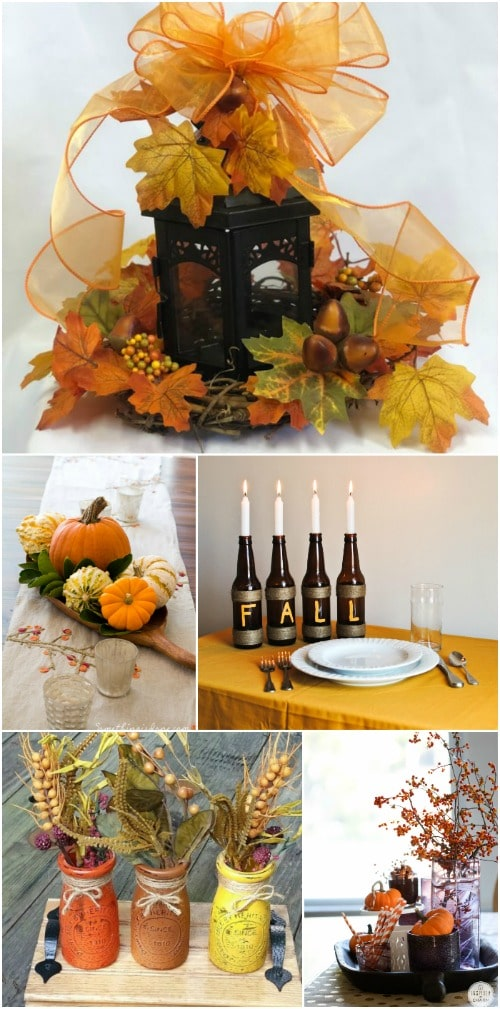 fall centerpieces for dining room table | 15 Gorgeous DIY Fall Centerpieces That Dress Your Dining ...