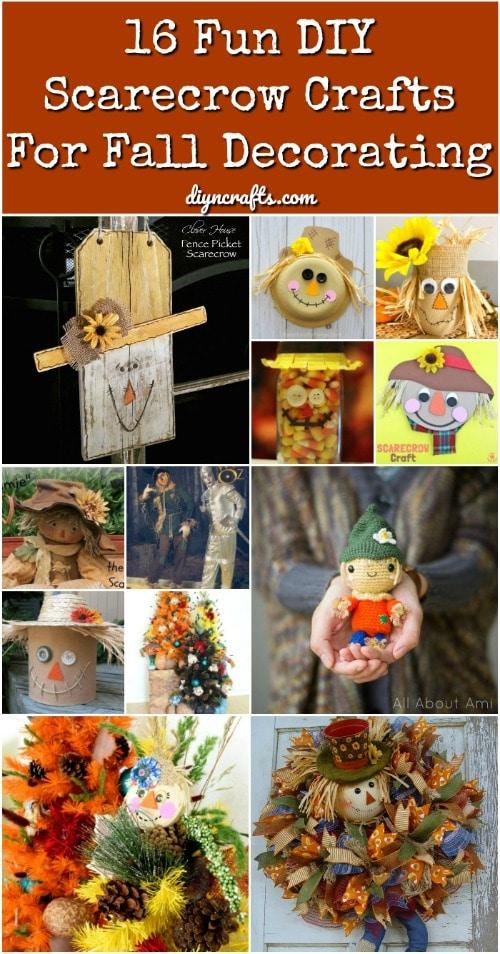 16 Fun DIY Scarecrow Crafts For Fall Decorating