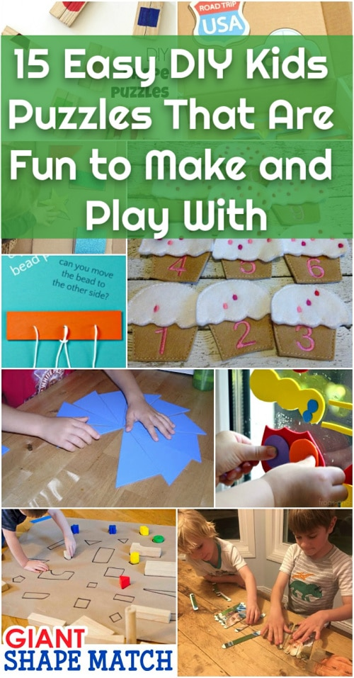 15 Easy Diy Kids Puzzles That Are Fun To Make And Play With Diy