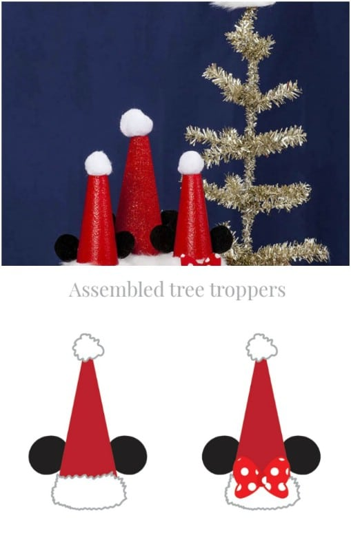 Simple DIY Mickey And Minnie Tree Toppers