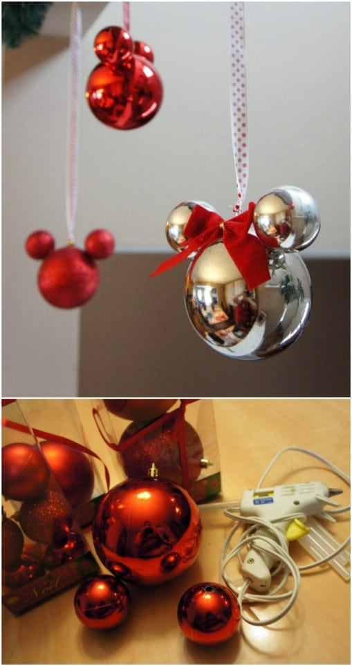 20 Creative Diy Disney Christmas Ornaments Anyone Can Do Diy Crafts