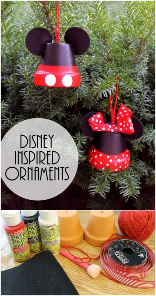 Mickey Mouse Christmas Tree Decorating Ideas.20 Creative Diy Disney Christmas Ornaments Anyone Can Do