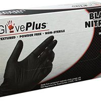 AMMEX - GPNB44100-BX - Nitrile - GlovePlus - Latex Rubber Free, Disposable, Powder Free, Industrial, 5 mil, Medium, Black (Box of 100)