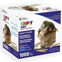 Loew-Cornell Simply Art Wood Craft Sticks 1000 ct.