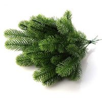45 pcs Artificial Pine Tree Branches Fake Pine Picks Pine Needle Garland DIY Craft Wreath for Christmas Embellishing Home Garden Decor Props