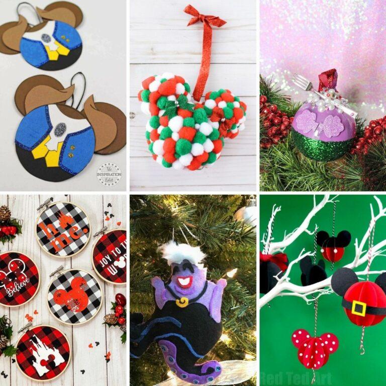 Disney ornament collage