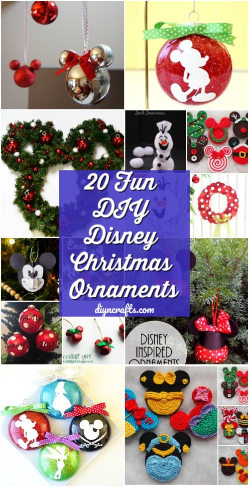 35 Creative Diy Disney Christmas Ornaments Anyone Can Make